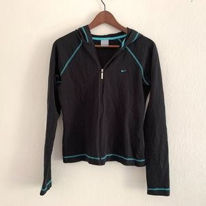 Nike Cotton Blend Zip Front Hooded Jacket